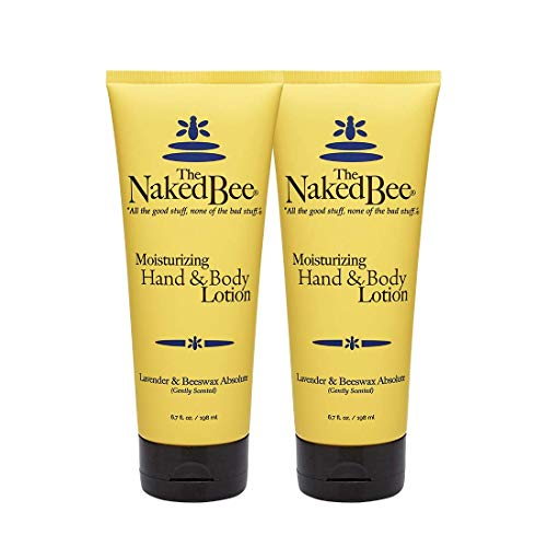 The Naked Bee Lavender & Beeswax Absolute Hand and Body Lotion, 6.7oz - 2 Pack