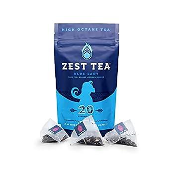 zest tea blue lady