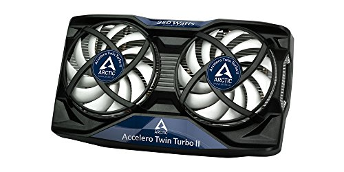 Arctic Cooling Accelero Twin Turbo II - Ventilador de tarjetas gráficas (diámetro del ventilador: 92 mm), blanco