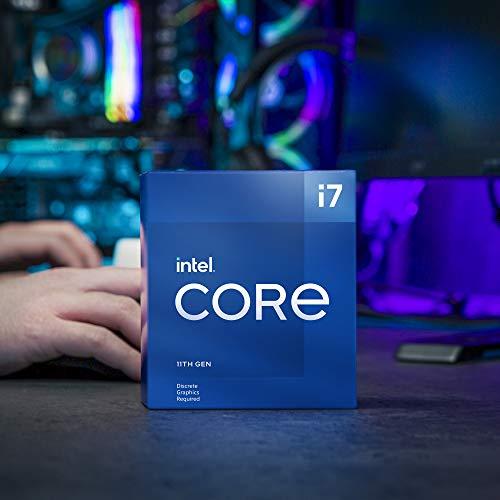 Intel Core i7-11700F Desktop Processor 8 Cores up to 4.9 GHz LGA1200 (Intel 500 Series & Select 400 Series Chipset) 65W