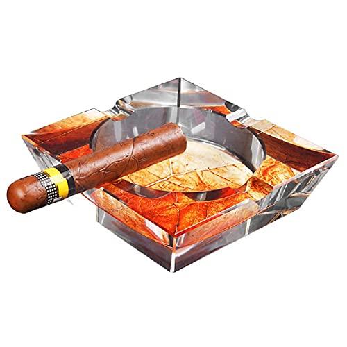 DOFCOC Cenicero De Cristal De Cristal para Cigarros, Cenicero para Uso En Interiores Y Exteriores, Mesa De Oficina En Casa, Decorativa para Mujeres Y Hombres