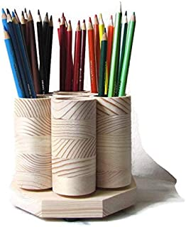 Desktop Rotating Pencil Holder Desk Organizer Colored Pencil Storage Holds up to 100 Pencils Artist Paint Brushes