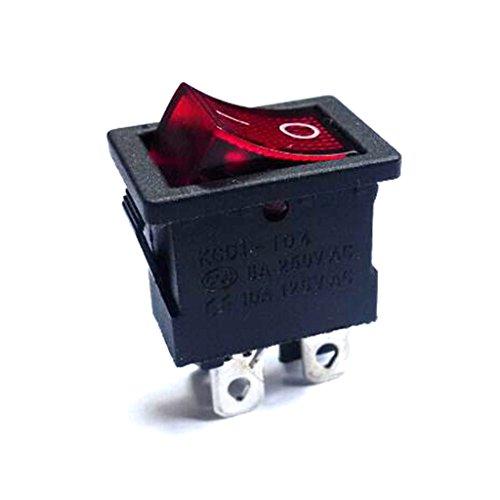 yotijar Interruptor de Botón Cuadrado con Botón de Bloqueo de Encendido/Apagado