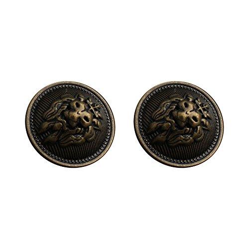 Botones de metal vintage para costura de moda, decoración para ropa, 12 piezas, plata de latón envejecido.