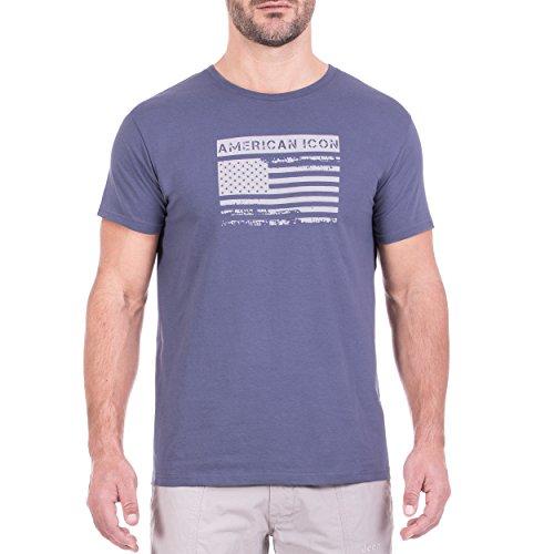 Jeep t-Shirt o100991-a754, Iconica Homme XXL Vintage Indigo/Light Grey