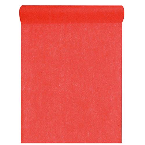 Vlies-Stoff 30cm (25m lang) Tischläufer Deko-Vlies Party Hochzeits-Dekoration (rot)