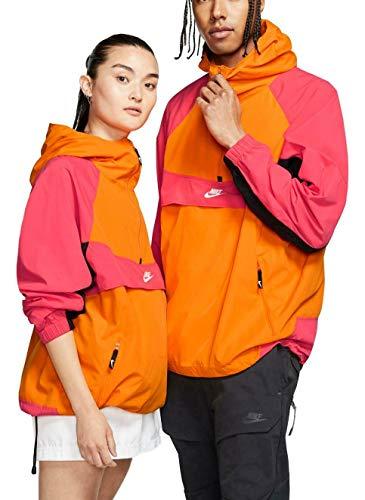 Nike Sportswear, Felpa Uomo, Arancione/Rosa Salmone (Bright Ceramic/Ember Glow)/Nero/Bianco, L