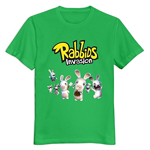 YWT Rabbids Invasion Logo Male T-shirt Casual Cool KellyGreen