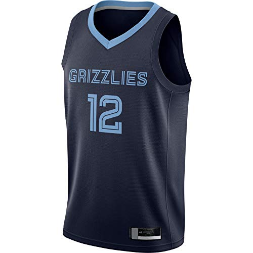 LANHUA 2020/21 Swingman Jersey Ja Sudadera Morant Top Sin Mangas Memphis Deportes Grizzlies Baloncesto Jersey Azul Marino -#12 Memphis Sports Icono Edition-M