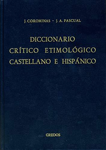 Diccionario crítico etimológico castellano e hispánico 4 (me-r): 044 (DICCIONARIOS)
