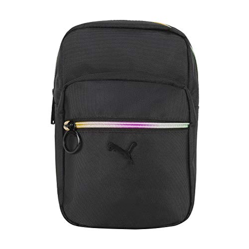 PUMA Women's Festival Zip Front Crossbody Messenger Bags, Black, One Siz