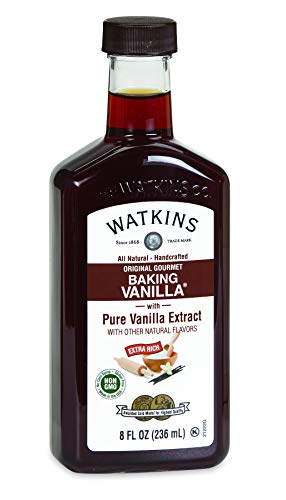 Watkins All Natural Original Gourmet Baking Vanilla with Pure Extract, 8 fl. oz. Bottle, 1-Pack