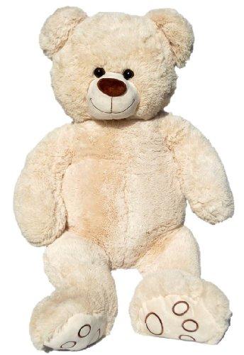 Wagner 9026 - XXL Plüschbär Teddy Bär - 100 cm groß - weiß - Teddybär