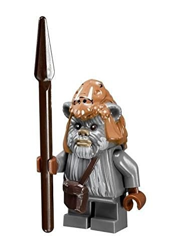 LEGO Star Wars Ewok Teebo minifigure with spear from Ewok Village (10236) by LEGO (English Manual)