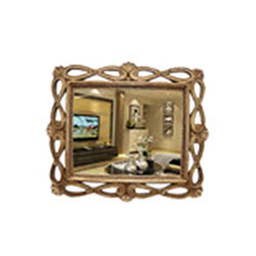 Decoración del hogar Espejos Rectángulo Espejo De Plata, Espejo Decorativo Viejo De Oro Estilo Europeo De Maquillaje Hueco Espejo De Entrada 76.2 * 88.9cm Espejos de baño(Size:76.2*88.9CM)