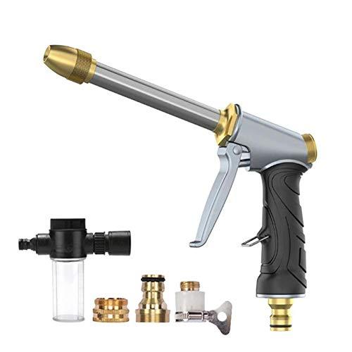 Pistola de agua, manguera de agua para jardín, pistola de pulverización de latón, arandela a presión, boquilla de chorro, rociador de espuma, juego de pistola de limpieza de coche
