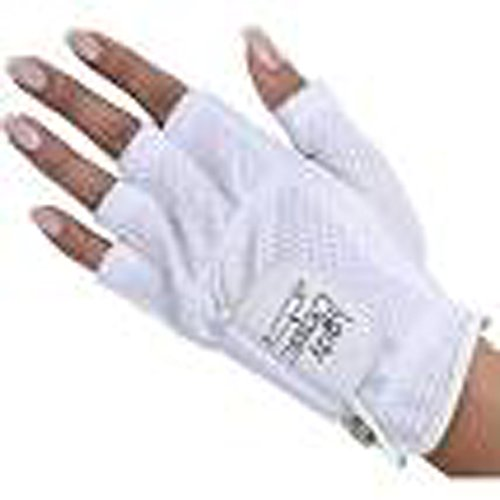 Lady Classic Cabretta 1/2 Finger Golf Glove White Medium RH