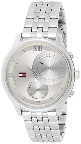 Tommy Hilfiger Damen Multi Dial Quartz Uhr mit Edelstahl Armband 1782132