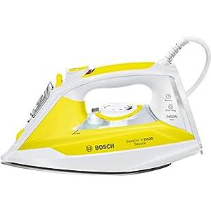Bosch Sensixx'x DA30 Secure TDA3024140 Blanco, Amarillo – Plancha (2 m, Blanco, Amarillo, 40 g/min, 0,32 L, 2400 W)