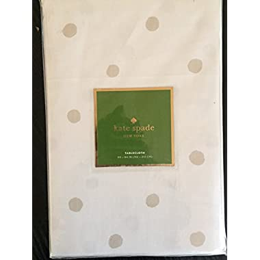 Kate Spade Charlotte street tablecloth, flaxseed 60x120
