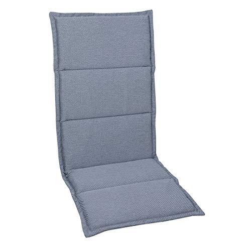 OUTLIV. Polsterauflage Dessin 925 Stapelsessel-Auflage 108x46x3 cm Sitz- Rückenkissen Grau Sitzauflage für Gartensessel und Gartenstuhl