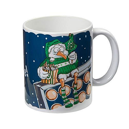 Werder Bremen SV Tasse Becher Weihnachtstasse Winter Möwe, 21-30063