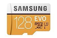 Samsung microSDXC カード 128GB EVO 4K Class10 UHS-I U3対応 最大読込速度 100MB/s MB-MP128GA 変換アダプター付属 サムスン