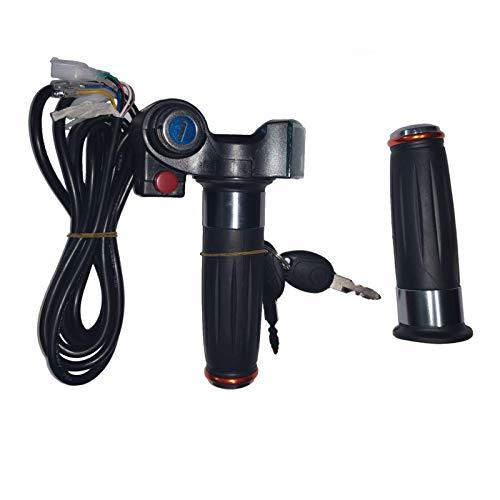 amalibay Acelerador eléctrico del apretón de la Bici, 12V 24V 36V 48V 60v 72V Vespa eléctrica Acelerador de Giro de la Bicicleta Acelerador con Pantalla LED Mango para Bicicleta eléctrica