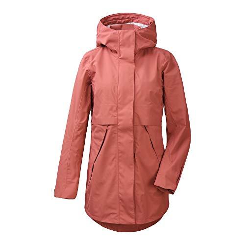 Didriksons Edith Parka 2 - Abrigo de entretiempo para mujer, talla 42, color: rosa