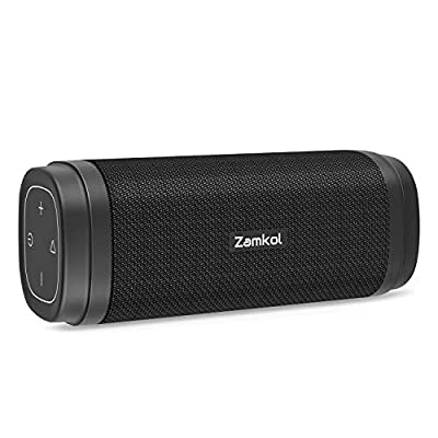 Zamkol ZK306 Bluetooth Speakers, Portable Wireless Speakers with Powerful 30W, Rich Bass, Built-in Mic, Bluetooth 5.0 Waterproof Speakers for Outdoor Party, Beach, Shower, Travel from Zamkol