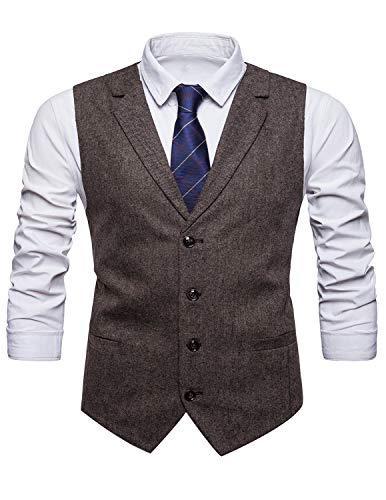 Chaleco tweed para hombre V-Neck Blazers