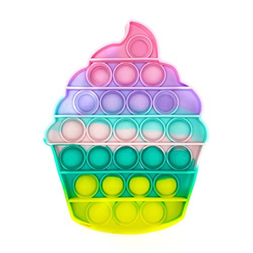 MAGIC SELECT Push Pop Bubble Sensory Fidget Toy, Giocattolo Anti Stress allevia l'ansia, Bolle di Silicone Push Pop, per Autismo Bisogno Speciale Antistress. (Gelato Multi)