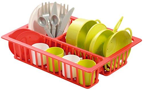 Ecoiffier 7709 - Escurreplatos de plástico con vajilla de Juguete