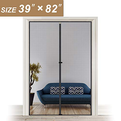 Magnetic Screen Door Fits Door Size 39 x 82, Strengthened Fiberglass Insect Fly Mesh with Full Frame...