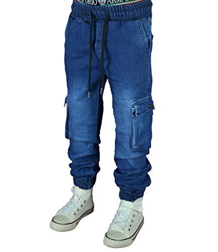 NM KIDS 5422 Cargo-Jogg Hose Junge Kinder (164, Jeansblau)