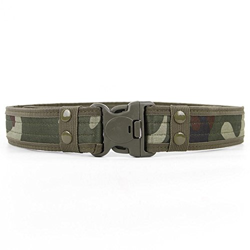 Limeo Cinturone Militare Cintura in pelle Cintura Cintura in vita cintura tattica militare tattico cintura cintura cintura da uomo Tactical Combat Cintura con fibbia camuffamento