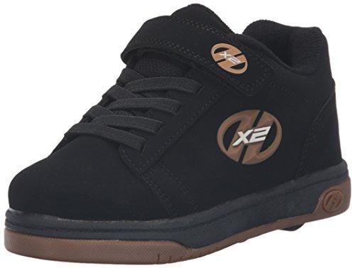 HEELYS Dual Up 770582 - Zapatos dos ruedas para niños, Black gum, 34 EU