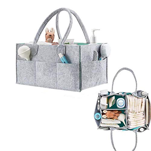 Organizador de pañales de bebé y de juguetes de viaje, cesta para...