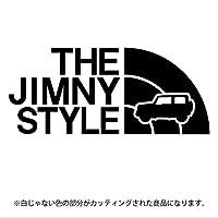 ジムニー 4代目JB64/JB74系ステッカー THE JIMNY STYLE【カッティングシート】パロディ(12色から選べます) (黒)