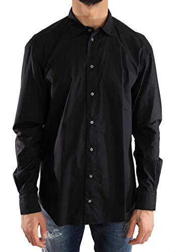 Dolce & Gabbana - Herren Hemd - Men Shirt Black Formal Slim Fit Cotton Shirt - Size: 40