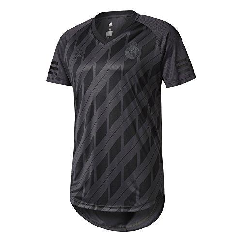 adidas SSP tee L Camiseta Línea Real Madrid, Hombre, Gris (gripur/Negro)