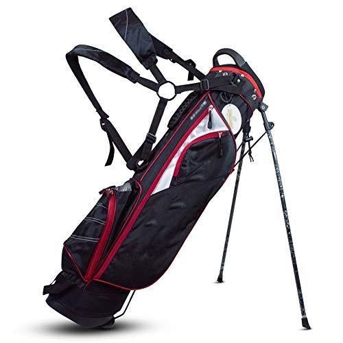 TYX-SS Golftasche, Standard Lightweight Golf Cartbag Standbag, Herren Und Damen Langlebige Anti-Reibung Golf Gun Bag,Wine red