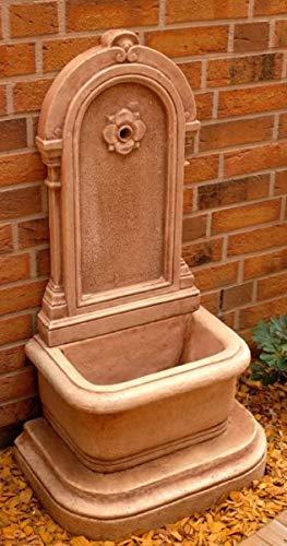 Casa Padrino Jugendstil Wandbrunnen Antik Creme Braun H. 113 cm - Brunnen Gartenbrunnen Steinbrunnen