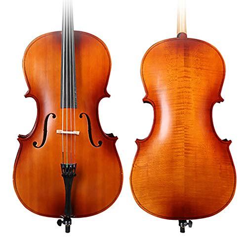 NUYI Matt High-End-Cello Handgefertigt Aus Massivem Holz Tiger Pattern Test 4/4,3/4,1/2,1/4 Spielen Erwachsene Kinder Anfänger Übungsinstrumente,1/4
