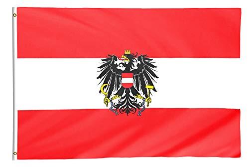 Star Cluster 90 x 150 cm Österreich Flagge mit Adler/Österreich Fahne/Fanartikel (at Adler 90 x 150 cm)