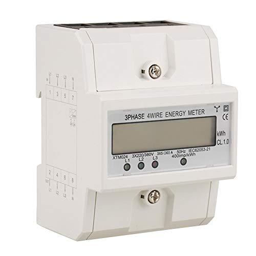 【 】Medidor de potencia trifásico digital de 3 x 220V, medidor eléctrico...