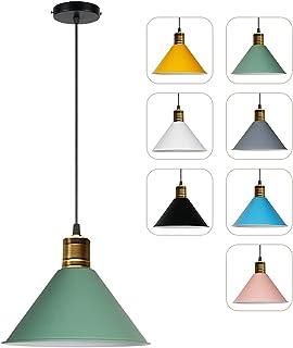 Lustre Suspension Triangulaire Industriel En Fer Pour Salon Luminaire Design En Couleur Macaron Moderne Suspensions D'écla...