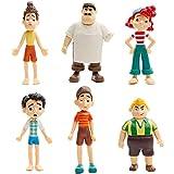 Luca Mini Figure Set, 6 Pezzi Luca Cake Topper Action Figure Luca Figure Decorazioni per Torte per Forniture per Feste di Compleanno Bambini Baby Shower