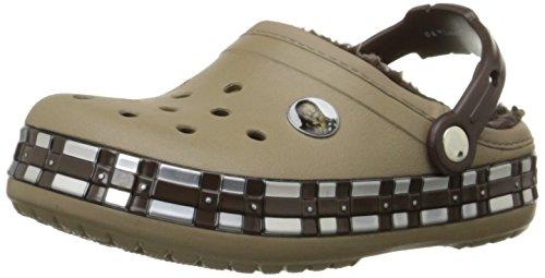 Crocs Crocband Star Wars Chewbacca Fuzz Lined Kids, Jungen Clogs, Braun (Khaki), 24/26 EU