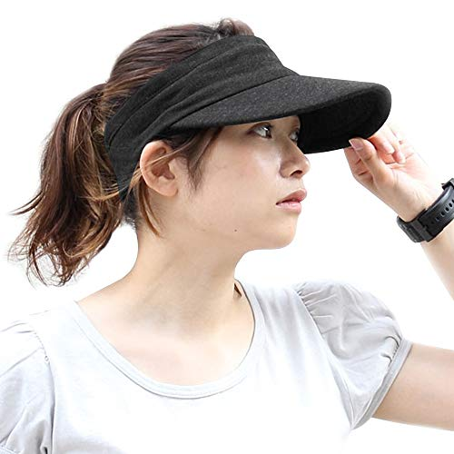 スポーツサンバイザーHoomoiジョギングランニングゴルフテニスメンズレディース帽子吸汗速乾抗菌防臭日焼け防止UVカット紫外線対策軽量